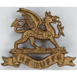 Buffs (Royal East Kent Regiment) - Dragon FR - 38.5mm Wide  Gilt Officers' collar badge