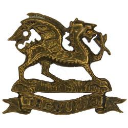 Buffs (Royal East Kent Regiment) - Dragon FR - 29.5mm Wide  Brass Officers' collar badge