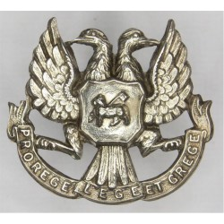 Black Watch - 4th (Perthshire) Volunteer Battalion 1887-1908  Silver-plated Officers' collar badge