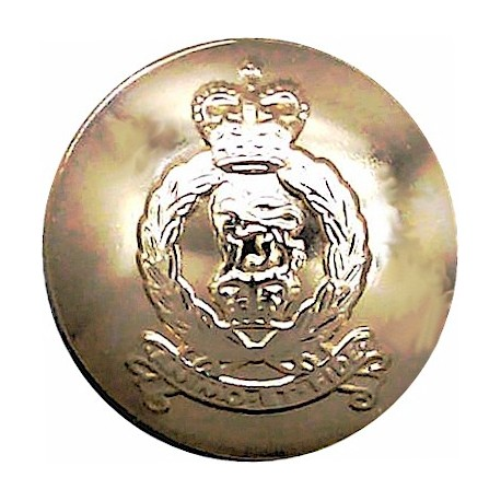 Scots Guards - Rare Size - For Waistcoat 14.5mm - Gold Colour with King's Crown. Anodised Staybrite military uniform button
