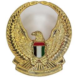 Abu Dhabi Defence Force FL - Hawk In Wreath  Gilt and enamel Officers' collar badge