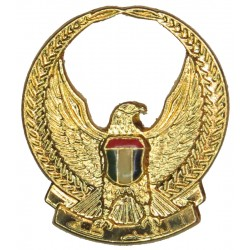 Abu Dhabi Defence Force FR - Hawk In Wreath  Gilt and enamel Officers' collar badge