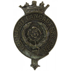 Duke Of Lancaster's Own Yeomanry 2-Part Mounted  Bronze Officers' collar badge