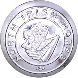 North Irish Horse 19.5mm Silver Colour with Queen Elizabeth's Crown. Anodised Staybrite military uniform button
