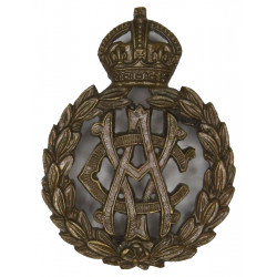 Army Veterinary Corps 1903-1918 with King's Crown. Bronze Officers' collar badge