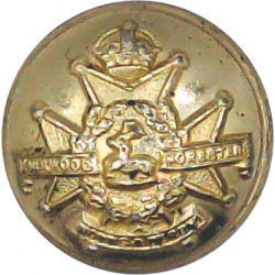 Sherwood Foresters (Notts & Derby Regiment) 18.5mm - Pre-1952 with King's Crown. Anodised Staybrite military uniform button