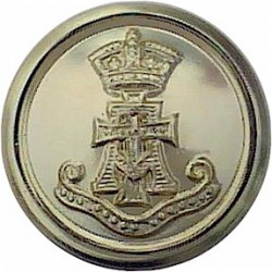 Green Howards (With Scroll) 14.5mm - Gold Colour  Anodised Staybrite military uniform button