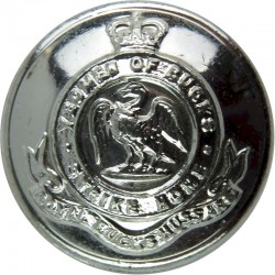 Royal Buckinghamshire Yeomanry Bty 299th Fd Regt RA 25.5mm Silver Colour with Queen Elizabeth's Crown. Anodised Staybrite milita