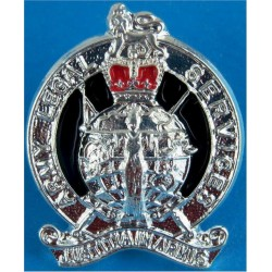 Army Legal Services (not Corps) FL with Queen Elizabeth's Crown. Silver-plated and enamel Officers' collar badge