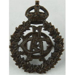 Canadian Army Dental Corps - 1929-1947 CADC Cipher Pattern with King's Crown. Bronze Officers' collar badge