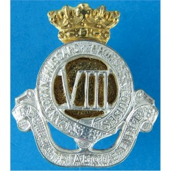 8th Canadian Hussars (Princess Louise's) Canadian Army  Silver-plate and gilt Officers' collar badge