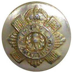 Australian Military Forces (Map) 14mm - Gold Colour Queen's Crown. Anodised Staybrite military uniform button