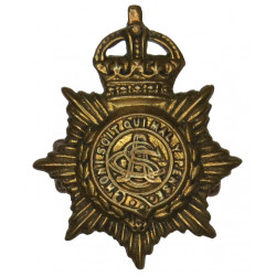 Army Service Corps 1902-1918 with King's Crown. Brass Other Ranks' collar badge