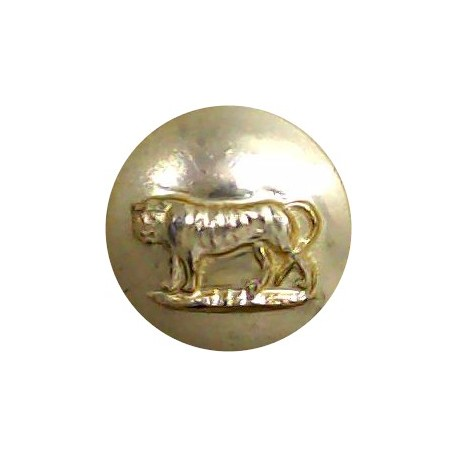 Royal Canadian Army Service Corps 17mm - Gold Colour with Queen Elizabeth's Crown. Anodised Staybrite military uniform button