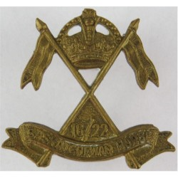 16th/22nd Saskatchewan Light Horse - Canada WW2 - Rare with King's Crown.  Other Ranks' collar badge