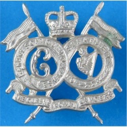 16th/5th The Queen's Royal Lancers  with Queen Elizabeth's Crown. White Metal Other Ranks' collar badge