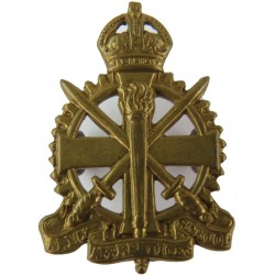 Army Apprentices School  with King's Crown. Brass Other Ranks' collar badge