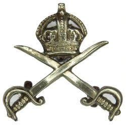 Army Physical Training Corps  with King's Crown. White Metal Other Ranks' collar badge