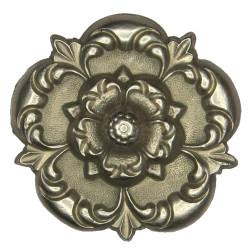 4th West York Militia 1876-1881 - Rose  White Metal Other Ranks' collar badge