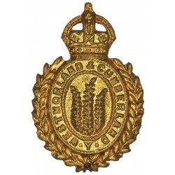 Westmorland & Cumberland Yeomanry  with King's Crown. Brass Other Ranks' collar badge