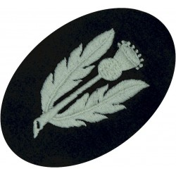 Scots Guards (removed From Scarlet Tunic) Thistle Stalk FL  Embroidered Other Ranks' collar badge