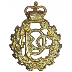 Canadian Army Dental Corps CADC Cipher Pattern with Queen Elizabeth's Crown. Gilt Other Ranks' collar badge