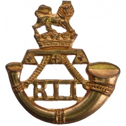 Rand Light Infantry (South Africa) Mouthpiece FL  Brass Other Ranks' collar badge