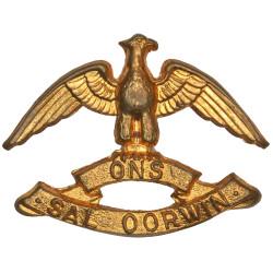 Regiment West Rand - South Africa FR  Brass Other Ranks' collar badge