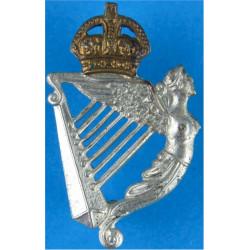 8th King's Royal Irish Hussars FR with King's Crown. Bi-metallic Other Ranks' collar badge