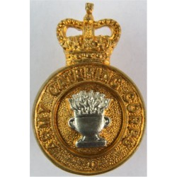 Army Catering Corps No Scroll - Pre-1973 with Queen Elizabeth's Crown. Bi-metallic Other Ranks' collar badge