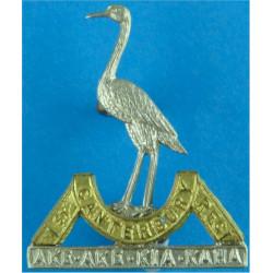 1st (Canterbury) Regiment, New Zealand Infantry FL  Bi-metallic Other Ranks' collar badge