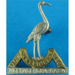 1st (Canterbury) Regiment, New Zealand Infantry FR - One Lug  Bi-metallic Other Ranks' collar badge