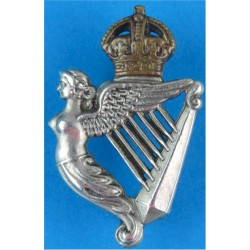8th King's Royal Irish Hussars FL with King's Crown. Bi-metallic Other Ranks' collar badge