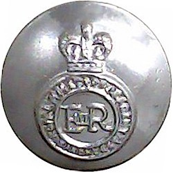 Royal Military Academy Sandhurst 14.5mm Silver Colour with Queen Elizabeth's Crown. Anodised Staybrite military uniform button