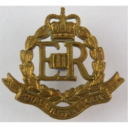 Royal Military Police  with Queen Elizabeth's Crown. Brass Other Ranks' collar badge