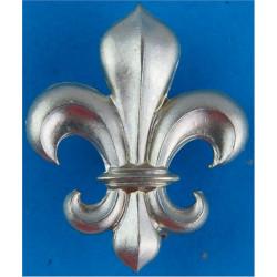 Manchester Regiment - Fleur-De-Lys Post-1923  White Metal Other Ranks' collar badge