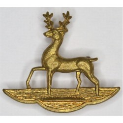 Hertfordshire Yeomanry FL - Hart  Brass Other Ranks' collar badge