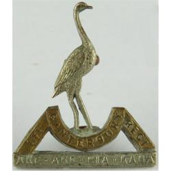 1st (Canterbury) Regiment, New Zealand Infantry FR  Bi-metallic Other Ranks' collar badge