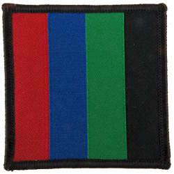 Parachute Regiment - Headquarters - 4th Pattern Red/Blue/Green/Black  Woven Parachute DZ (Drop-Zone) Patch