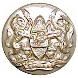 Welch Regiment - 1952-1960 19.5mm - Screw-Fit with Queen Elizabeth's Crown. Anodised Staybrite military uniform button