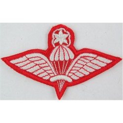 Ethiopian Master Parachute Wings (with Enclosed Star White On Red  Embroidered Parachute jump wings or badge