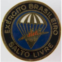 Brazil Army Free-Fall Badge   Enamel Parachute jump wings or badge