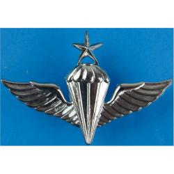 Republic Of Korea Navy Senior Parachute Wings (South Korea)  Chrome-plated Parachute jump wings or badge