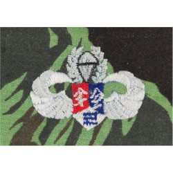 Republic Of China (Taiwan) Special Forces Wings On Camouflage  Embroidered Parachute jump wings or badge