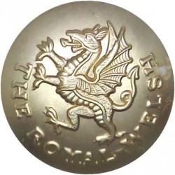 The Royal Welsh (Post-2006) - Band 26mm - Gold Colour  Anodised Staybrite military uniform button