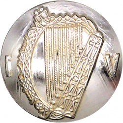 Irish Defence Forces - Army - Harp With Letters IV 23mm - Gold Colour  Anodised Staybrite military uniform button