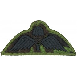 New Zealand Army Parachute Wings Black On DPM  Embroidered Parachute jump wings or badge