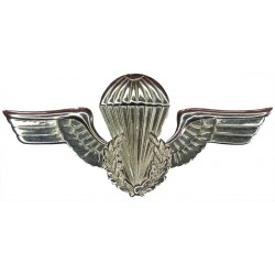 Brazil Parachute Wings - Enlisted Old Series  Chrome-plated Parachute jump wings or badge