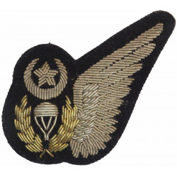 Pakistan Air Force Parachute Jump Instructor Half-Wing  Bullion wire-embroidered Parachute jump wings or badge