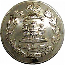 Suffolk Regiment 19.5mm - Screw-Fit with King's Crown. Anodised Staybrite military uniform button